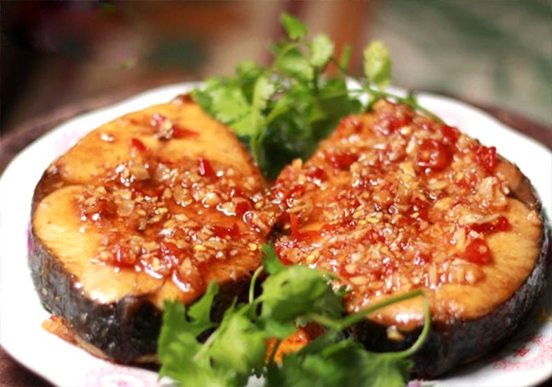 Khô cá chiên sốt nướng mắm tỏi ớt