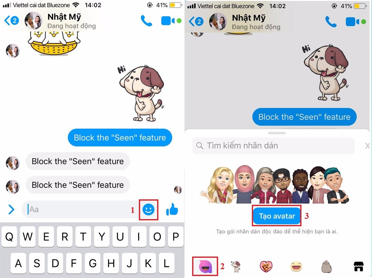 Sử dụng tính năng tạo nhãn dán trên Messenger