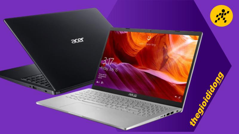 Top 3 laptop dưới 10 triệu đồng bán chạy nhất tháng 8 tại Thế Giới Di Động
