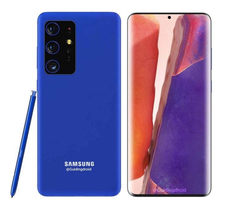 Galaxy S21 xuất hiện trong ảnh render mới với bút S-Pen tích hợp