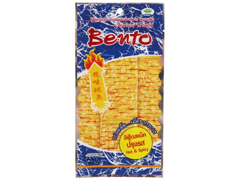 Snack mực tẩm gia vị cay Bento màu xanh dương