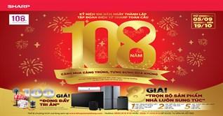 Mua sản phẩm Sharp trên 1 triệu, cơ hội trúng ngay tivi, tủ lạnh, máy lạnh, máy giặt,... giá trị