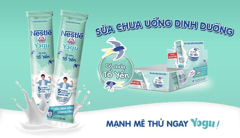 Nestlé ra mắt sữa chua uống thanh trùng có tổ yến dạng gói tiện lợi