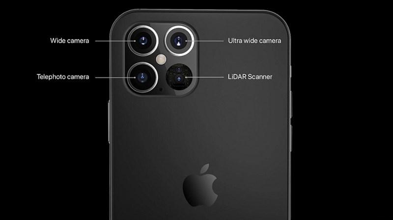 Kính bảo vệ camera iPhone 12 Pro có không gian dành cho cảm biến LiDAR