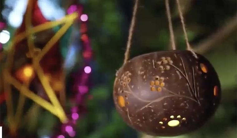 Độc đáo lồng đèn trung thu bằng gáo dừa, vừa đẹp lại bảo vệ môi trường