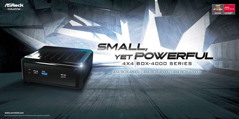 ASRock công bố máy tính mini 4X4 BOX-4000 Series sử dụng APU Ryzen 4000 Series
