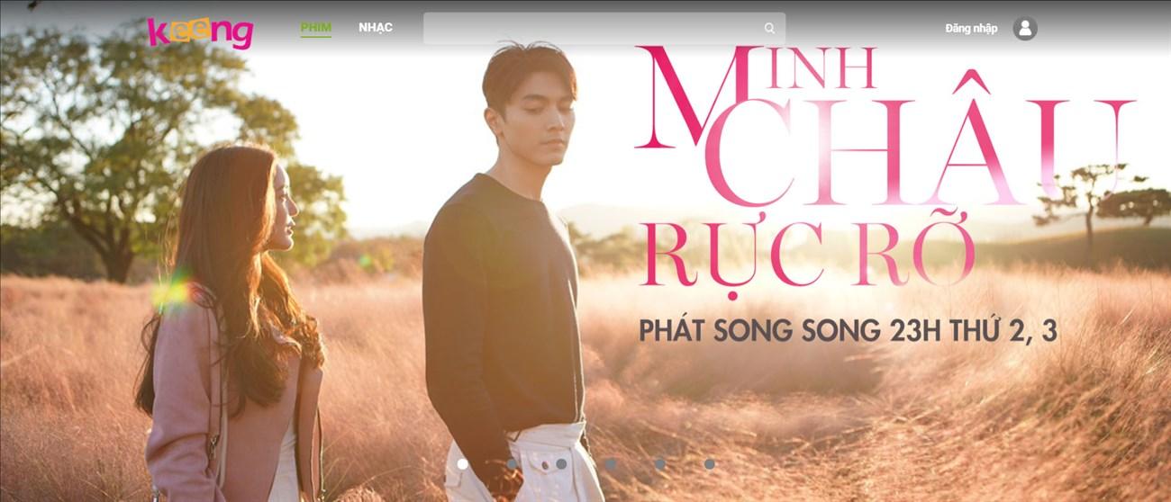 Giao diện website Keeng