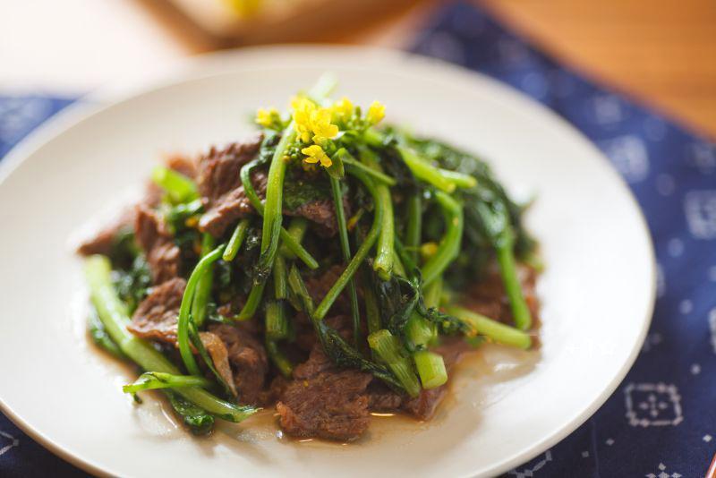 Xào cải ngồng với thịt bò