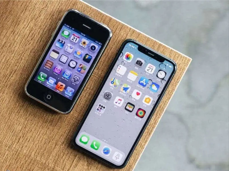 Thiết kế màn hình của iPhone 3GS vs iPhone 11 Pro