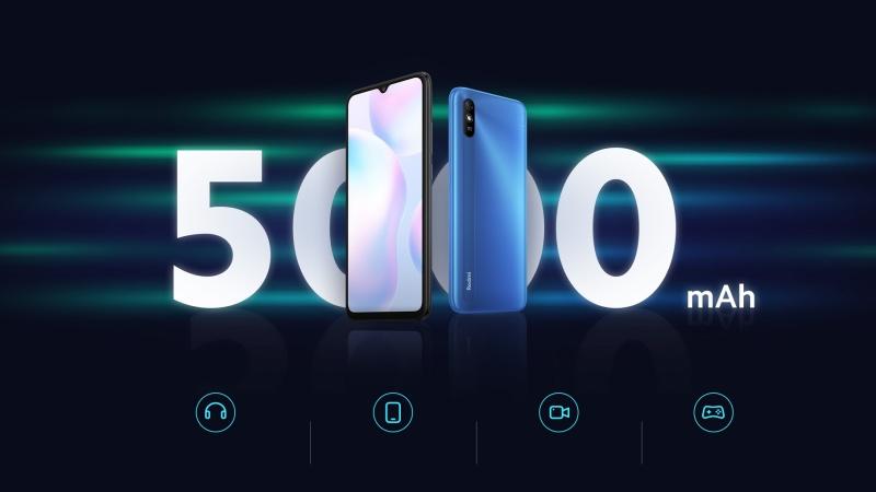 Redmi 9i ra mắt: Dùng chip chuyên game Helio G25, pin 5.000 mAh, công nghệ Nano chống thấm nước P2i, giá từ 2.6 triệu đồng