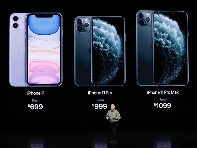 Giá bán của iPhone 11 Series