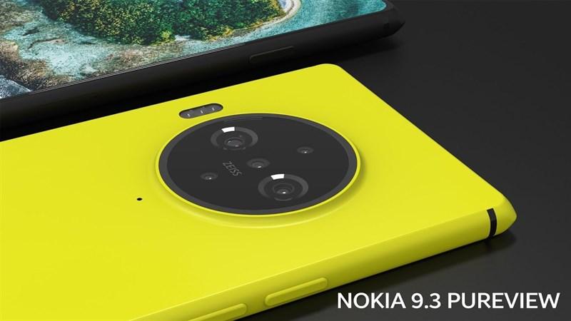 Lộ ảnh render của siêu phẩm Nokia 9.3 PureView 5G với cụm máy ảnh khủng mặt sau, camera selfia ẩn dưới màn hình