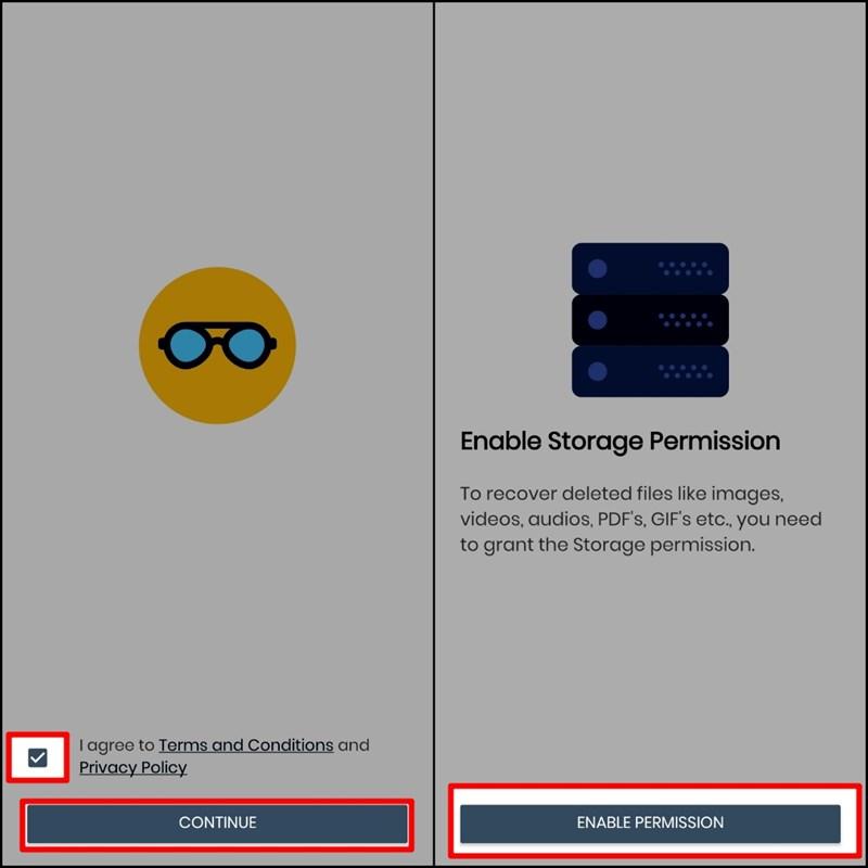 Cấp quyền truy cập cho ứng dụng