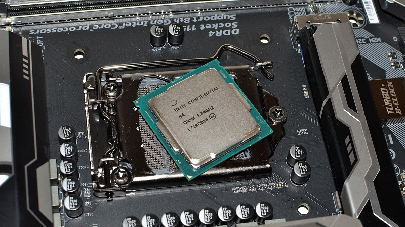 CPU on mainboard