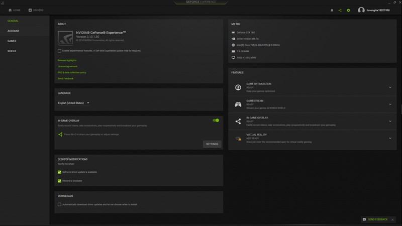 Công cụ GeForce Experience đang được Nvidia bổ sung nhiều tính năng