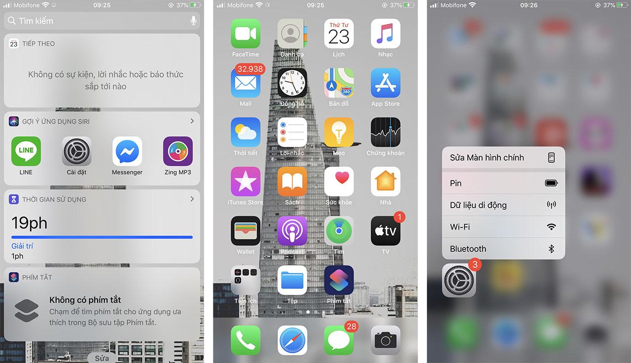 Giao diện cũ tức giao diện của iOS 13