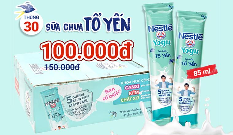 Mua sữa chua uống thanh trùng có tổ yến Nestle dạng thanh giảm giá lên đến 33%