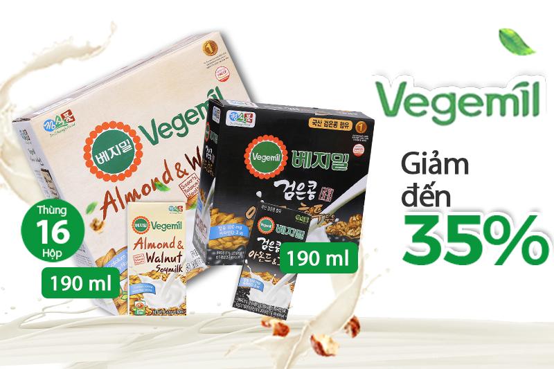 Giảm giá lên đến 35% khi mua sữa từ hạt Vegemilk