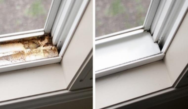 Cách làm sạch khe cửa sổ đơn giản cực kì hiệu quả