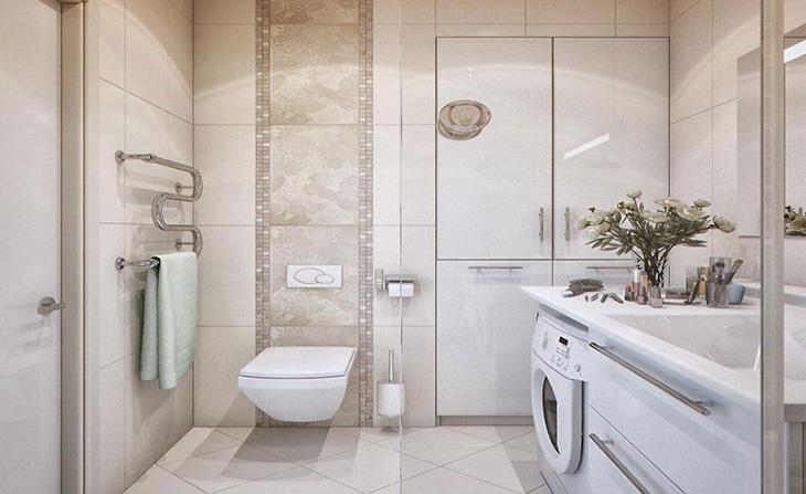 Phòng vệ sinh sử dụng đèn LED có màu trung tính