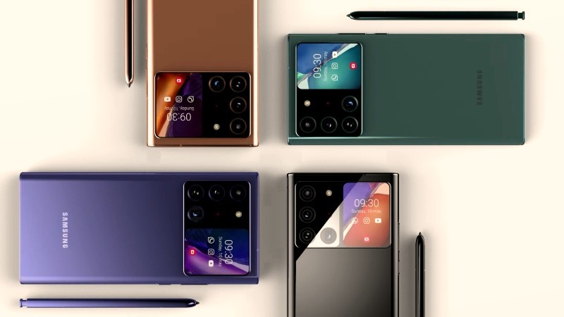 Concept Samsung Galaxy Note 30 Ultra với màn hình kép