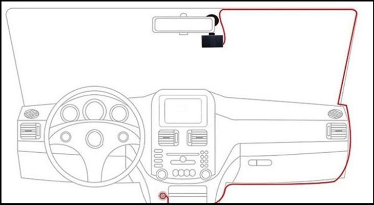 Cách lắp đặt camera hành trình trên ô tô - Đi dây