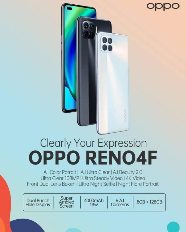 Chưa kịp ra mắt, OPPO Reno4 F đã bị lộ tổng quan thiết kế và nhiều thông số kỹ thuật chính