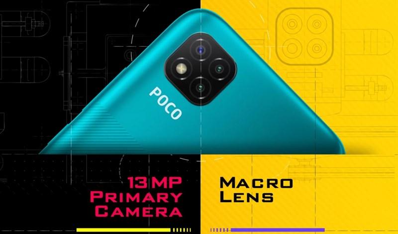 Một trong ba camera sau có ống kính macro