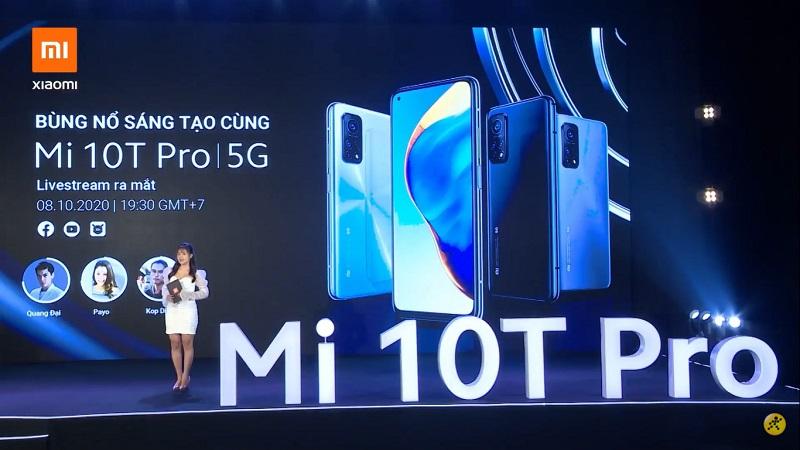 Xiaomi Mi 10T Pro 5G ra mắt tại VN