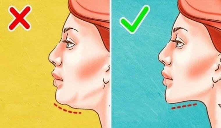 Những bài tập đơn giản giúp các cô nàng đuổi bay gương mặt 'nọng' nhanh chóng