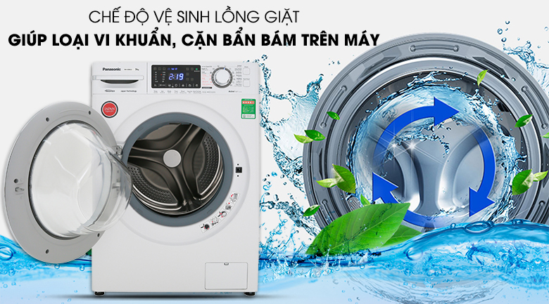Hình minh họa cho tính năng tự vệ sinh lồng giặt
