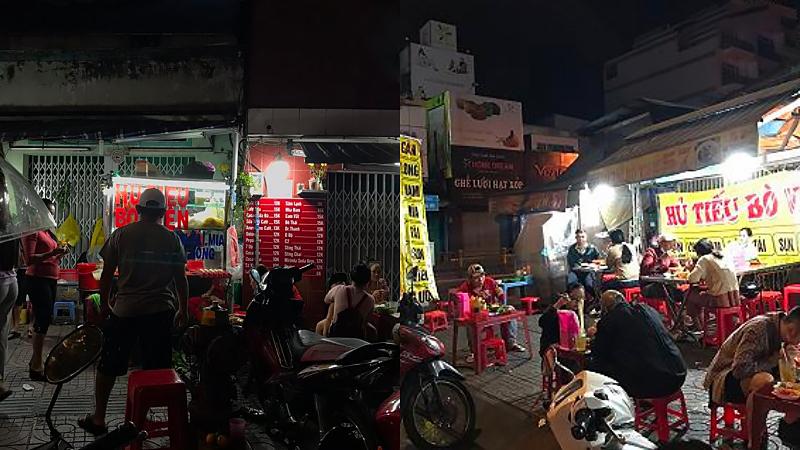 Không gian quán hủ tiếu bò viên Nơ Trang Long