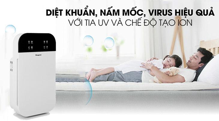 Công nghệ UV diệt khuẩn, nấm mốc hiệu quả