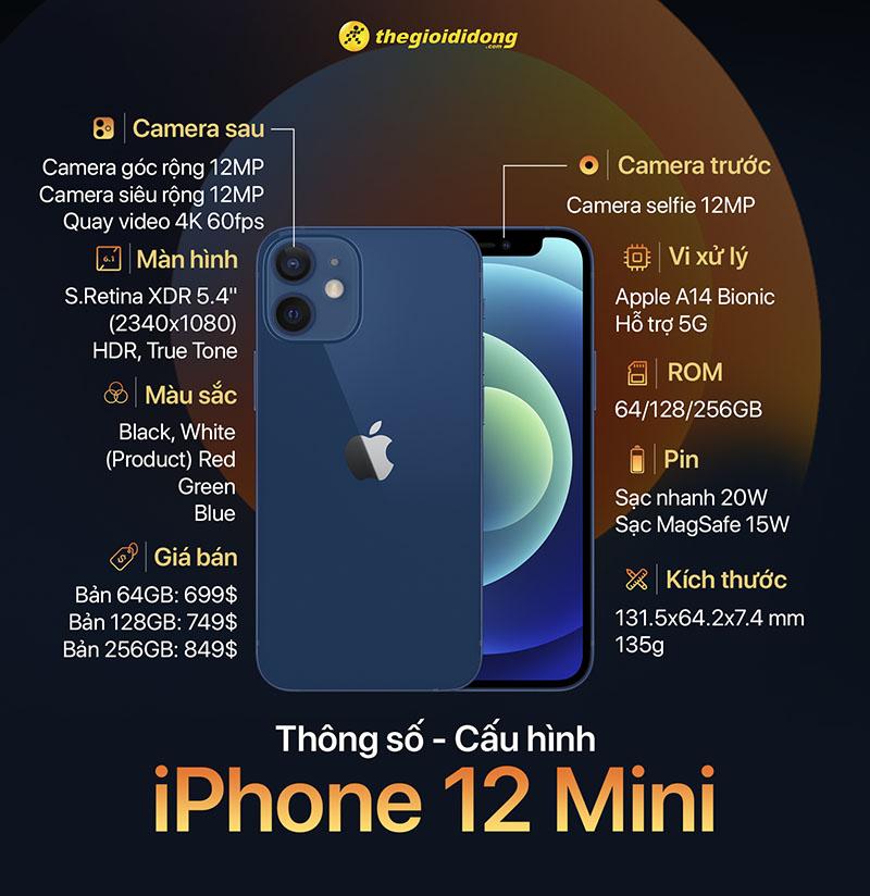 Thông số phần cứng của iPhone 12 Mini