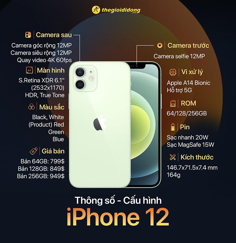 Cấu hình của iPhone 12