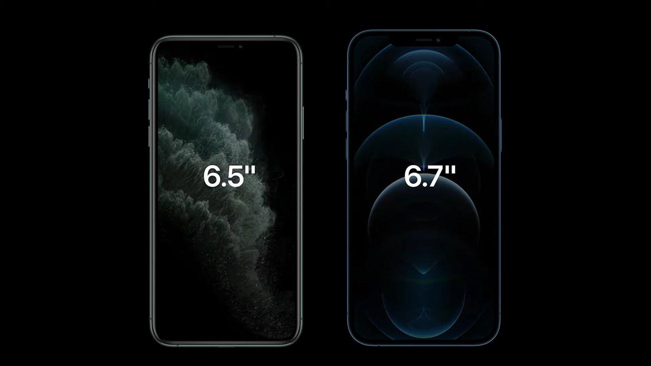Màn hình của iPhone 12 Pro Max Vs iPhone 11 Pro Max