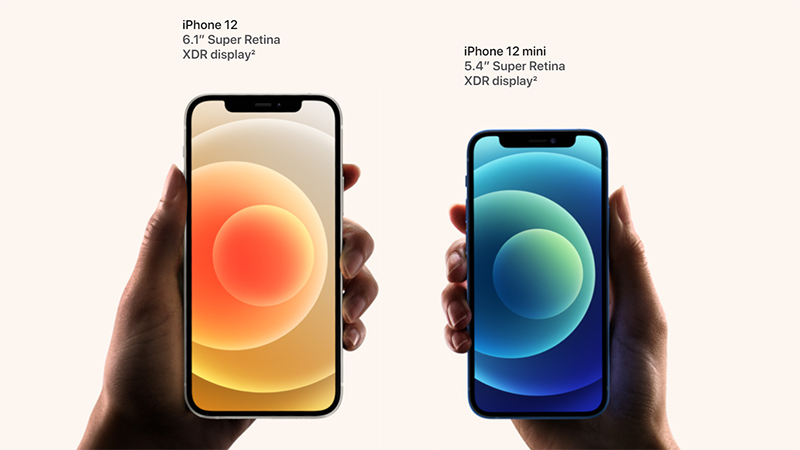 Trên tay iPhone 12 và iPhone 12 mini