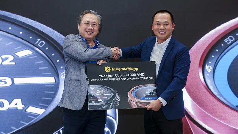 Thế Giới Di Động x Samsung tặng 1 tỷ đồng cho đội tuyển Olympic VN