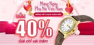Đồng hồ Casio giảm SỐC 40%, giá chỉ vài trăm, mua ngay tặng nàng 20.10