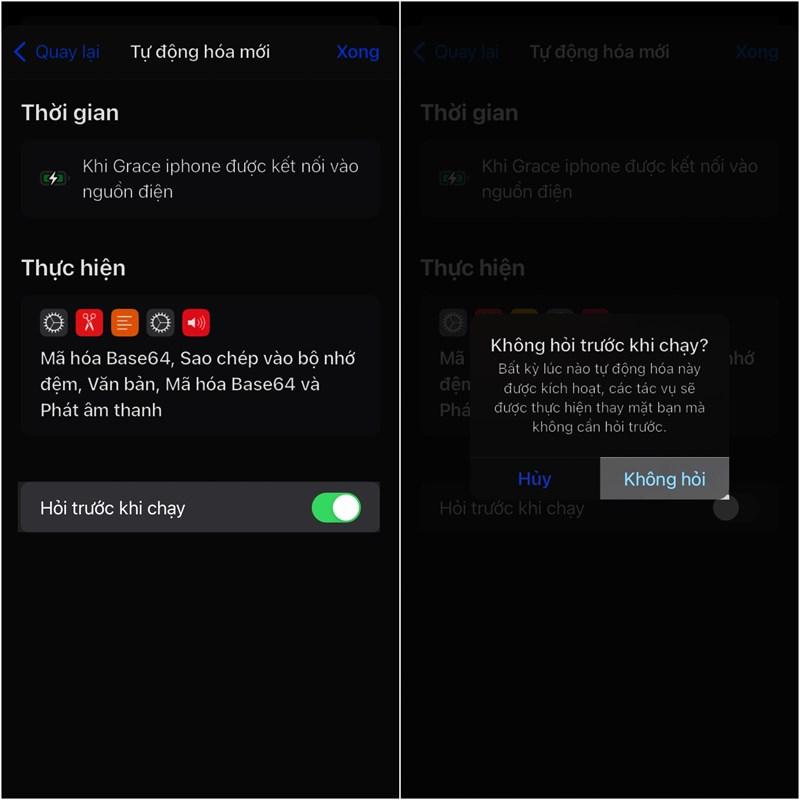 Hướng dẫn cách phát nhạc khi cắm sạc điện thoại iPhone