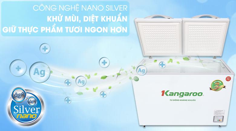 Kháng khuẩn cao với công nghệ Nano silver trên tủ đông Kangaroo