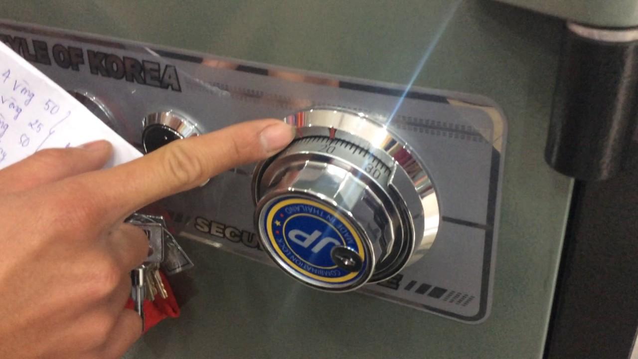 cách mở két sắt khóa cơ