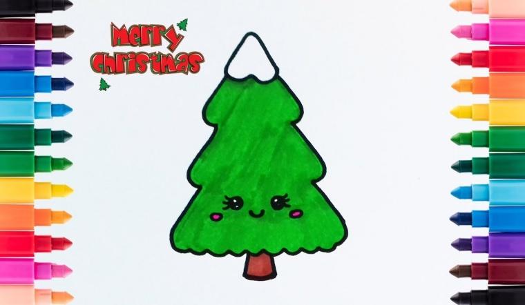 16 cách vẽ cây thông Noel đơn giản mà các mẹ có thể dạy bé
