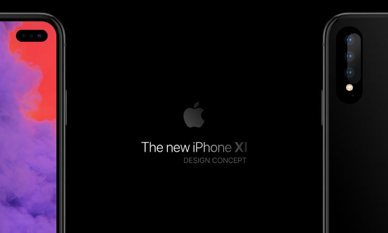 Thiết kế iPhone với thiết kế màn hình đục lỗ