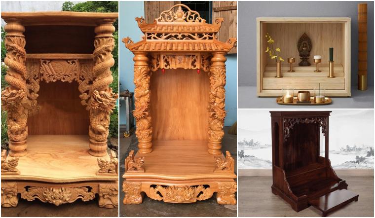 19 mẫu bàn thờ Thần Tài đẹp giúp làm ăn buôn bán phát đạt