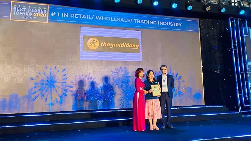Thế Giới Di Động nhận giải thưởng Nơi làm việc tốt nhất Việt Nam 2020