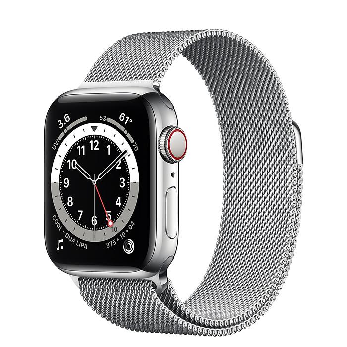 Apple Watch 6 vỏ thép không gỉ bạc