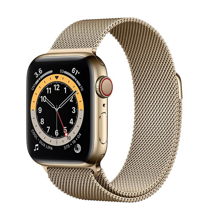 Apple Watch 6 vỏ thép không gỉ vàng