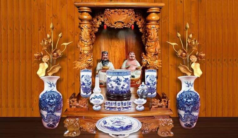 Có nên thờ 2 ông địa và thần tài trong cùng một bàn thờ?
