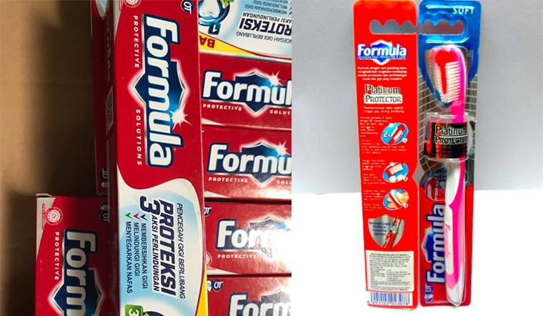Kem đánh răng và bàn chải đánh răng thương hiệu Formula